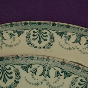 bordure assiette faience ancienne d coup e vieux vert choisy le roi elle mosa que. Black Bedroom Furniture Sets. Home Design Ideas